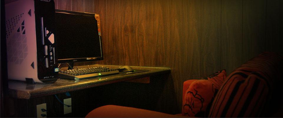 internet gaming cafe