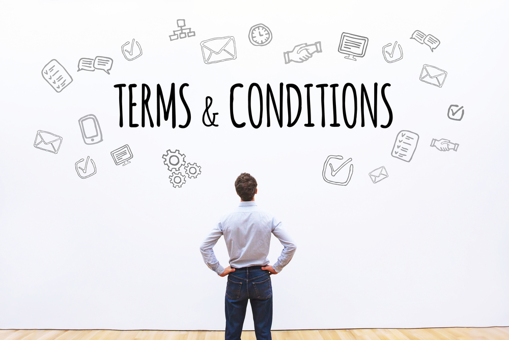 terms and conditions for internet gambling